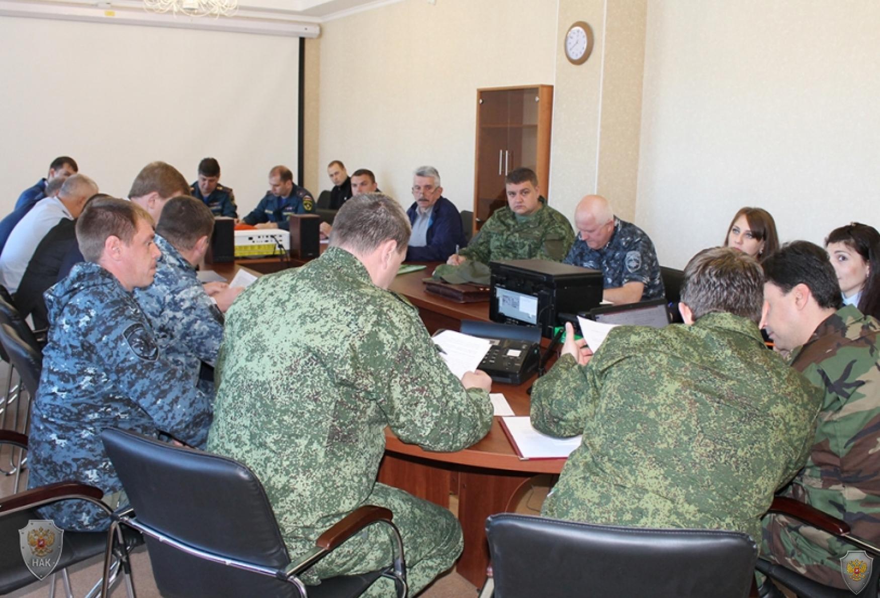 Заседание оперативной группы в муниципальном образовании  г. Ессентуки. Выработка решения на проведение мероприятий