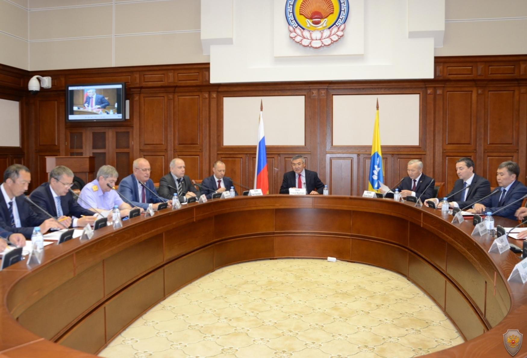 Совместное заседание Антитеррористической комиссии РК и Оперативного штаба в Республики Калмыкия