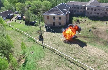 Группа ликвидации угрозы взрывов нейтрализовала взрывное устройство на месте путем подрыва