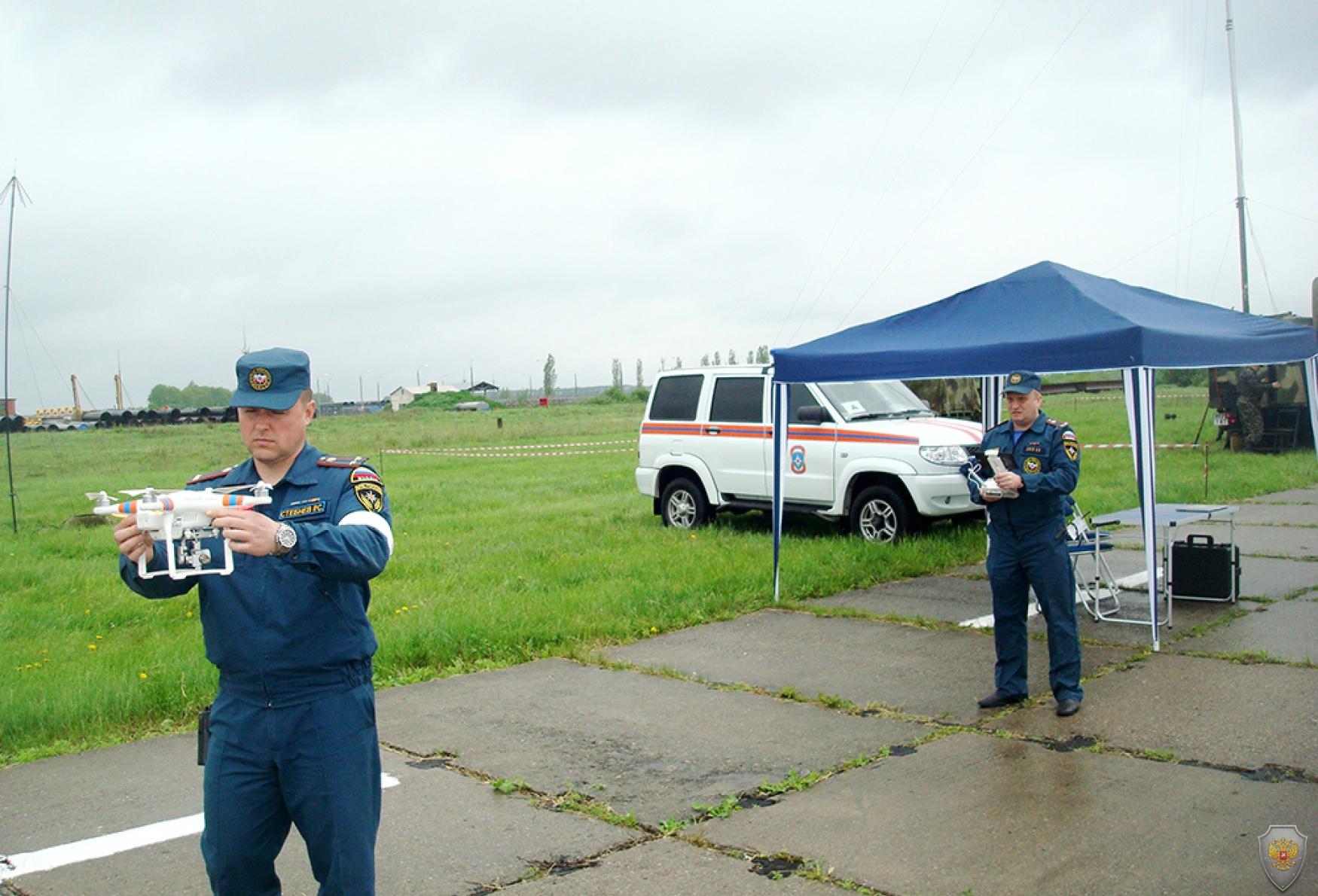 Разведка прилегающей территории с использованием квадрокоптера ГУ МЧС России по Тамбовской области