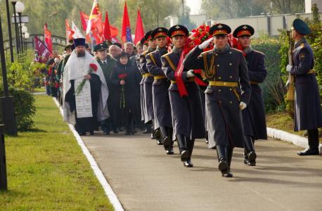 День памяти на Богородском кладбище.
