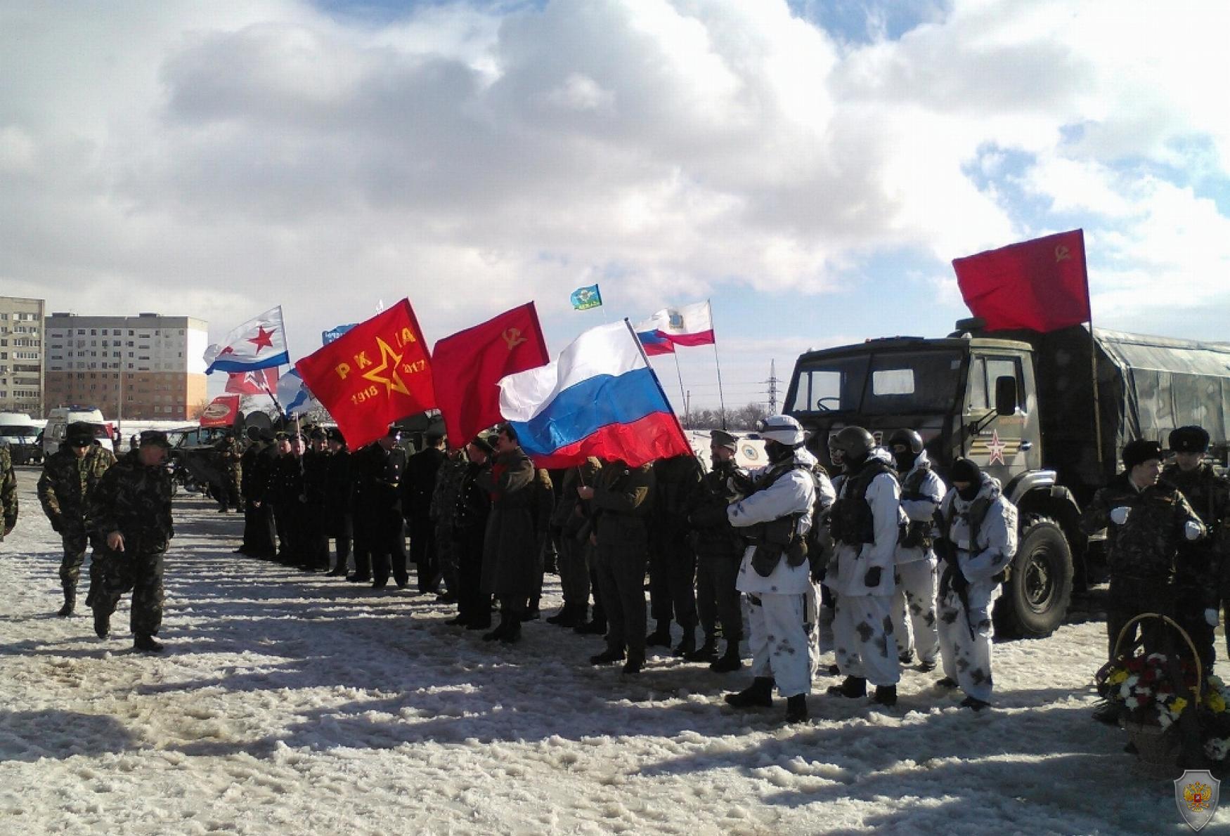 Общее построение участников Фестиваля патриотизма
