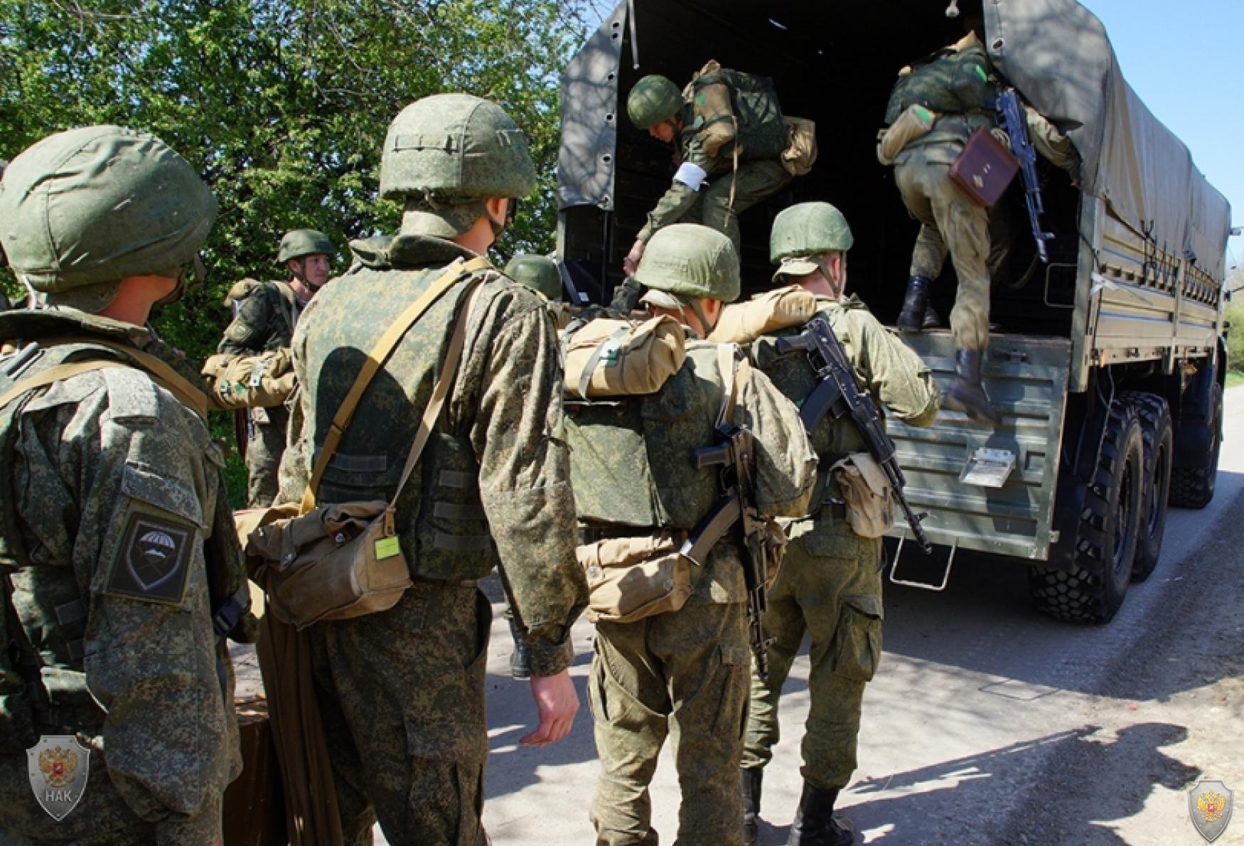 Сбор и приведение в готовность сил и средств оперативного штаба в Ставропольском крае, выдвижение в район проведения контртеррористической операции