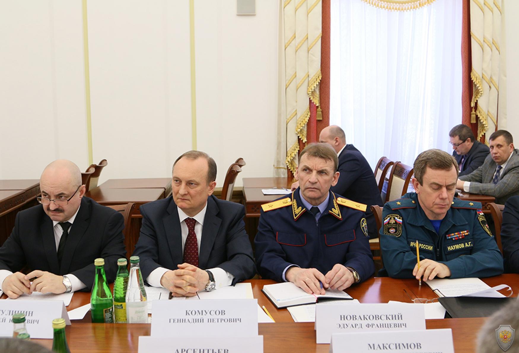 Заседание Антитеррористической комиссии Республики Мордовия