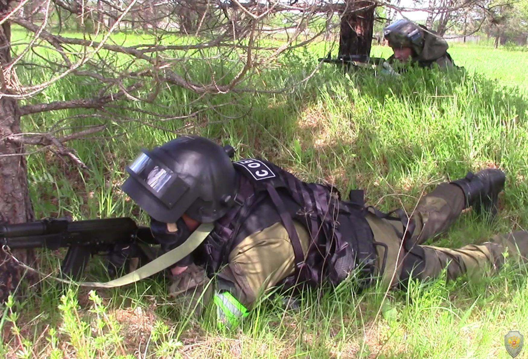 Бойцы ОБП в засаде