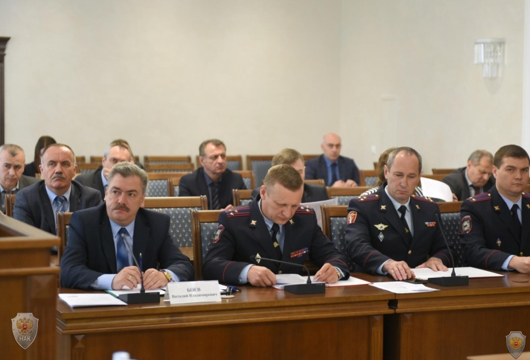 Участники совместного заседания Антитеррористической комиссии и Оперативного штаба в Республике Адыгея