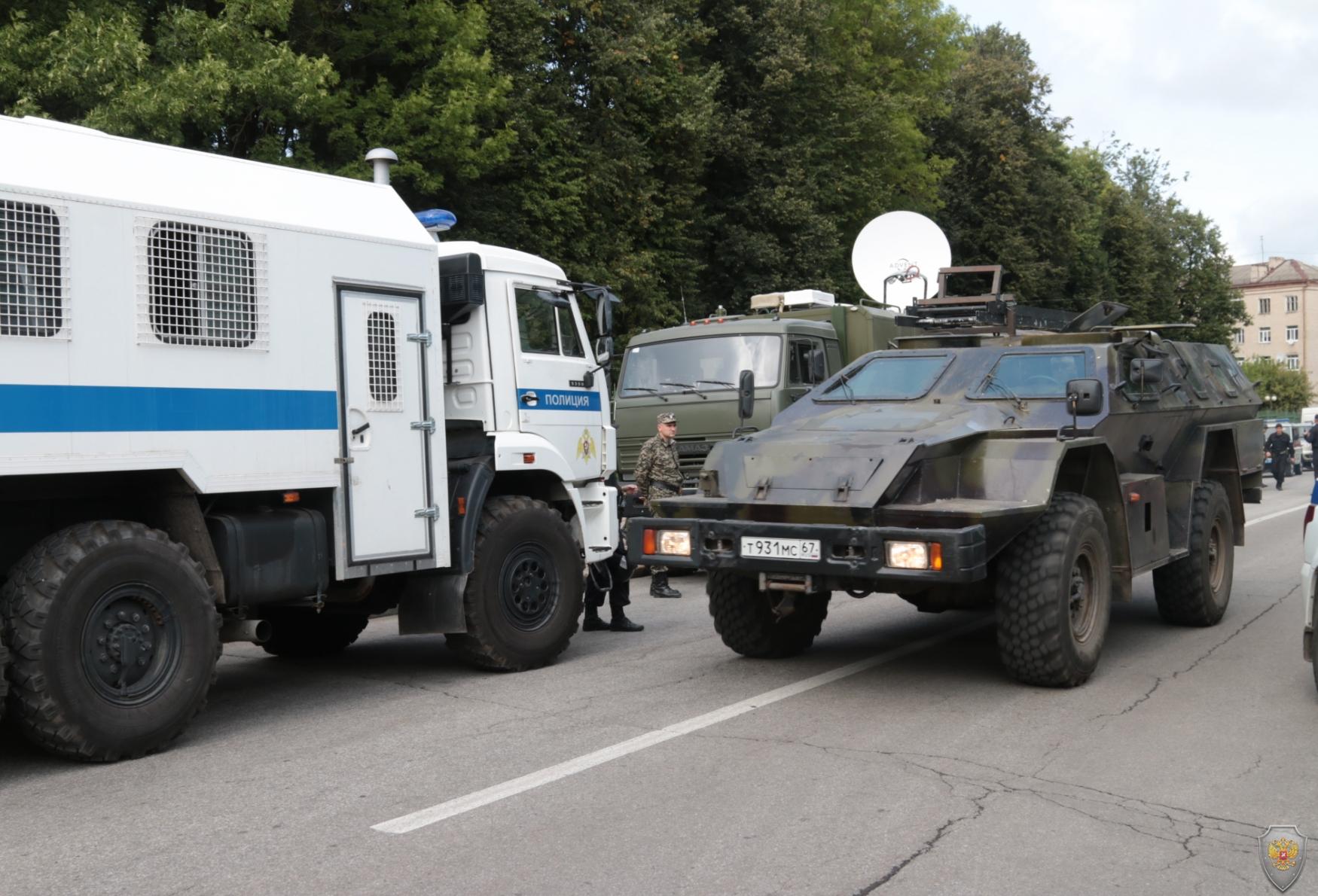 Оперативным штабом в Смоленской области  проведено тактико-специальное учение
