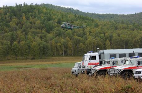 Прибытие оперативного Штаба в горно-лесистую местность