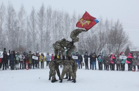Показательные выступления бойцов Шумиловской бригады Росгвардии.