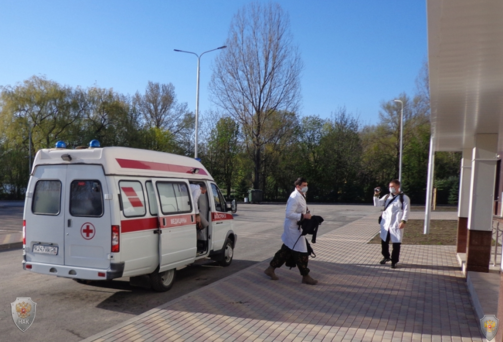 Захват условной террористической группой с использованием автомобиля скорой помощи спортивного комплекса «Ессентуки-Арена»