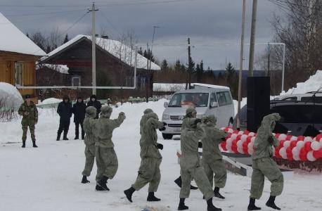 Показательные выступления бойцов Шумиловской бригады (34-ой отдельной бригады оперативного назначения Росгвардии)