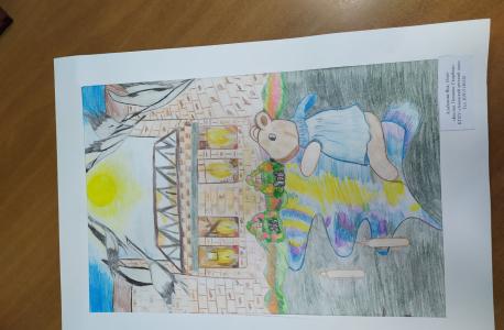 3 место.Название работы: «Беслан. Помним. Скорбим». Альбекова Яна, 16 лет, Ачинский детский дом