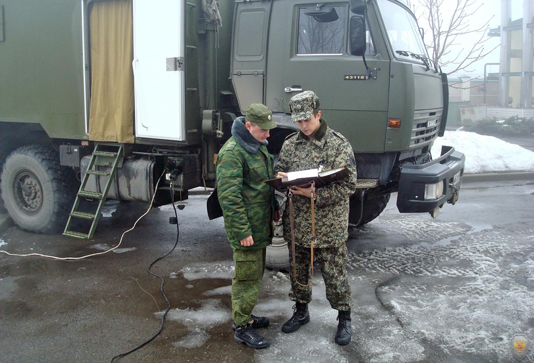 Развертывание вспомогательного пункта управления оперативного штаба