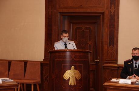 Выступление начальника отдела государственного контроля Управления Росгвардии по Республике Коми Кодочигова Д.А. по вопросу