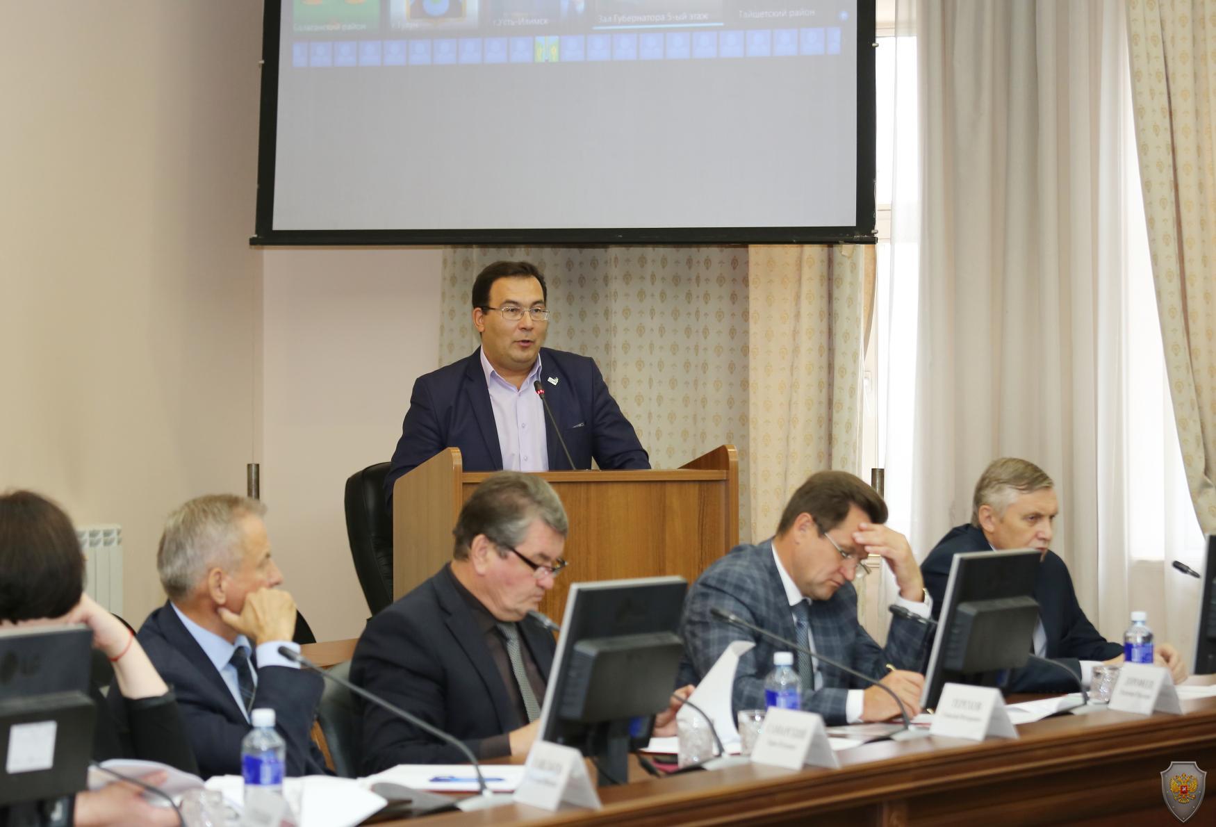 Под председательством Губернатора Иркутской области С.Г. Левченко прошло заседание антитеррористической комиссии