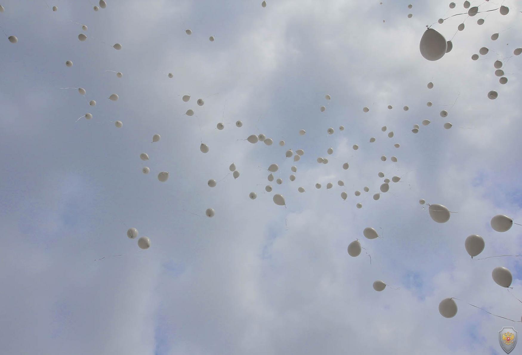 Запуск воздушных шаров в память погибших