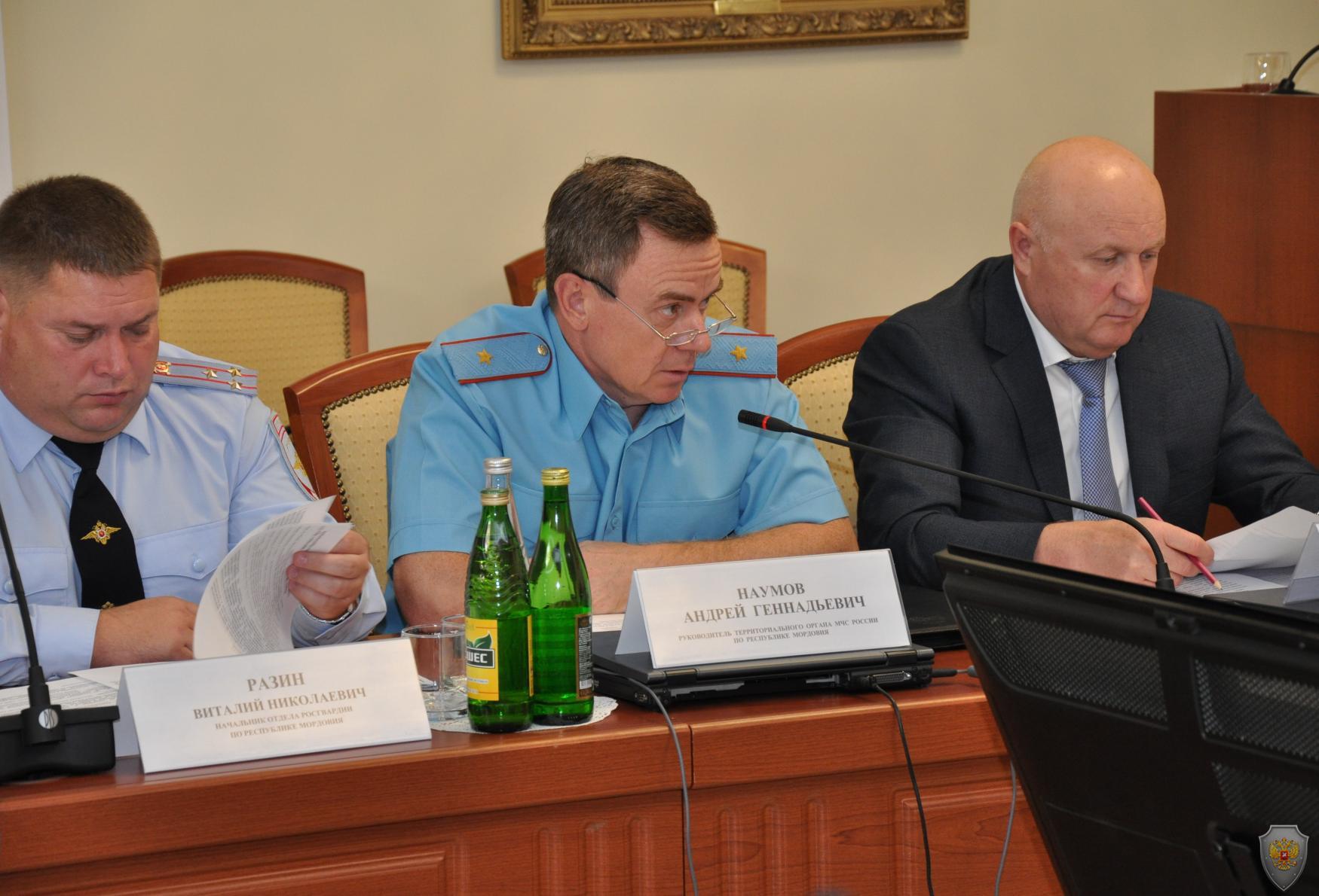 Выступление начальника Главного Управления МЧС РФ по РМ Наумова А.Г.