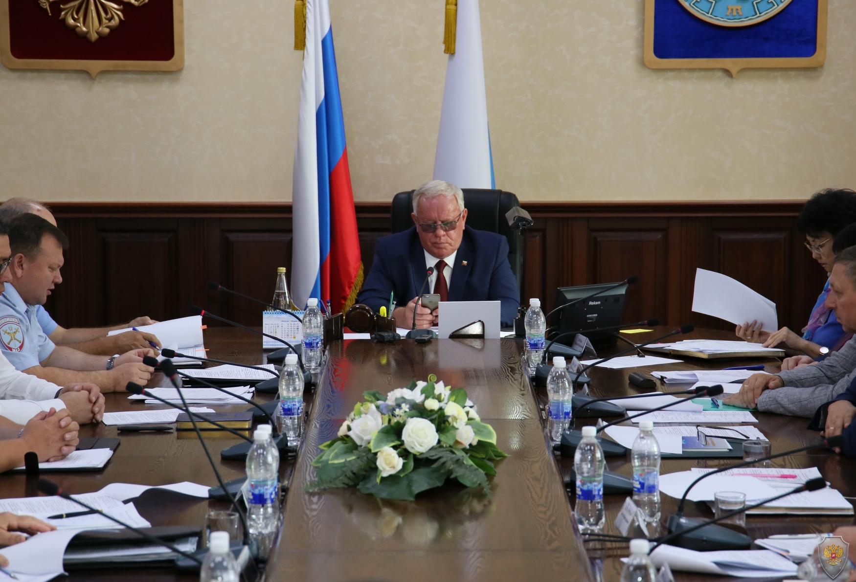 Доклад министра внутренних дел по Республике Алтай по вопросу о готовности к действиям по предназначению в период проведения мероприятий к Дню знаний