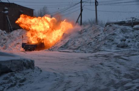 Подрыв «террористом» автомобиля в районе автостанции пгт Яшкино