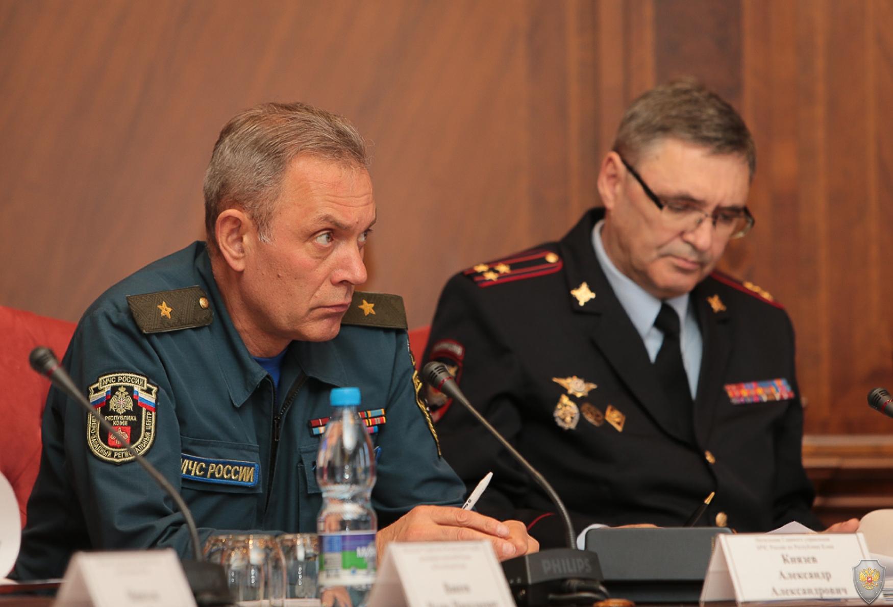 Члены Антитеррористической комиссии в Республике Коми