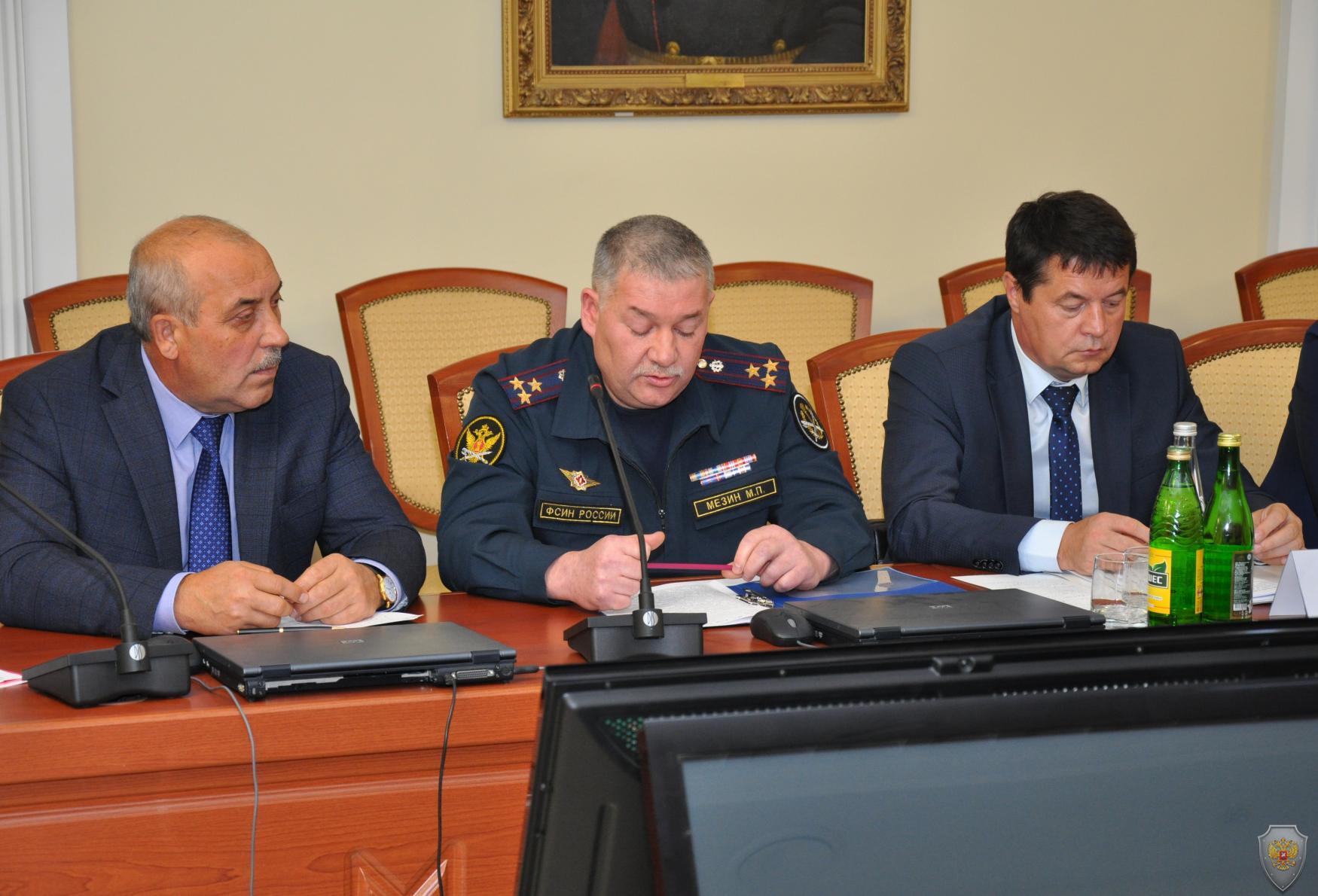 Выступление первого заместителя начальника Управления ФСИН РФ по РМ Мезина М.П.