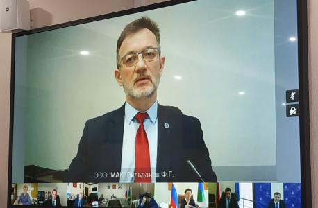 Выступление исполняющего обязанности генерального директора ООО «Международный аэропорт Когалым» (Вильданов Флорид Галимзянович)