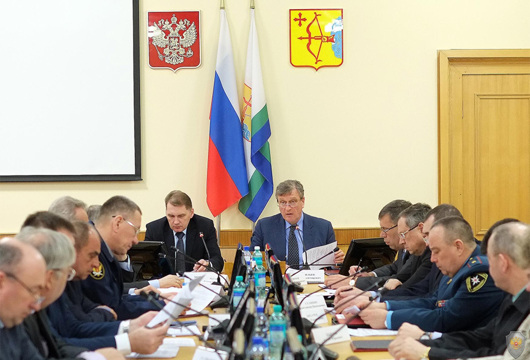 Совместное заседание антитеррористической комиссии в Кировской области и оперативного штаба в Кировской области