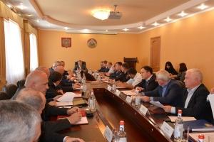Заседание республиканской антитеррористической комиссии прошло сегодня в Пригородном районе Северной Осетии